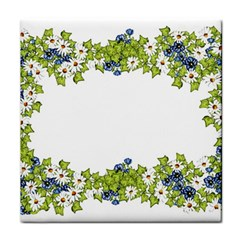 Birthday Card Flowers Daisies Ivy Tile Coasters by Nexatart