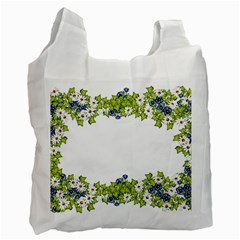 Birthday Card Flowers Daisies Ivy Recycle Bag (two Side)  by Nexatart