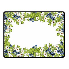 Birthday Card Flowers Daisies Ivy Fleece Blanket (small)