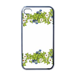 Birthday Card Flowers Daisies Ivy Apple Iphone 4 Case (black) by Nexatart