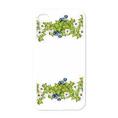 Birthday Card Flowers Daisies Ivy Apple Iphone 4 Case (white)