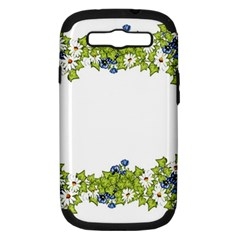Birthday Card Flowers Daisies Ivy Samsung Galaxy S Iii Hardshell Case (pc+silicone) by Nexatart