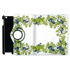 Birthday Card Flowers Daisies Ivy Apple Ipad 3/4 Flip 360 Case