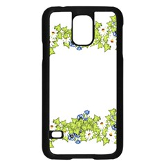 Birthday Card Flowers Daisies Ivy Samsung Galaxy S5 Case (black) by Nexatart