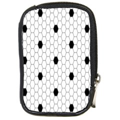 Black White Hexagon Dots Compact Camera Cases by Mariart