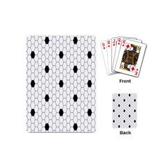 Black White Hexagon Dots Playing Cards (mini)  by Mariart
