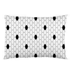 Black White Hexagon Dots Pillow Case (two Sides) by Mariart