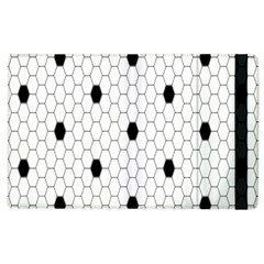Black White Hexagon Dots Apple Ipad 2 Flip Case by Mariart