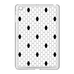 Black White Hexagon Dots Apple Ipad Mini Case (white) by Mariart