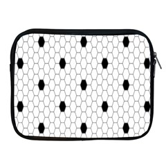 Black White Hexagon Dots Apple Ipad 2/3/4 Zipper Cases by Mariart