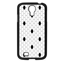 Black White Hexagon Dots Samsung Galaxy S4 I9500/ I9505 Case (black) by Mariart