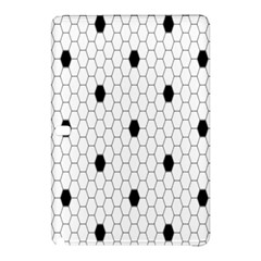 Black White Hexagon Dots Samsung Galaxy Tab Pro 10 1 Hardshell Case by Mariart