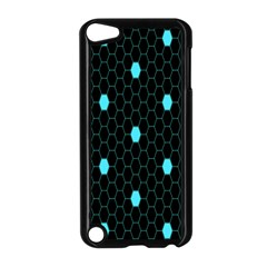 Blue Black Hexagon Dots Apple Ipod Touch 5 Case (black) by Mariart