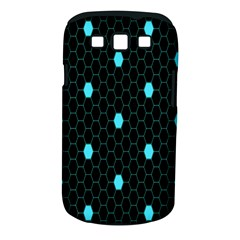 Blue Black Hexagon Dots Samsung Galaxy S Iii Classic Hardshell Case (pc+silicone) by Mariart