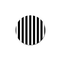 Black White Line Vertical Golf Ball Marker (10 Pack) by Mariart