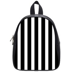 Black White Line Vertical School Bags (small)  by Mariart