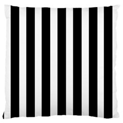 Black White Line Vertical Large Cushion Case (two Sides) by Mariart