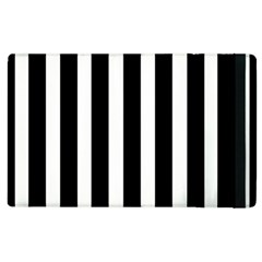 Black White Line Vertical Apple Ipad 2 Flip Case by Mariart