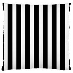 Black White Line Vertical Large Flano Cushion Case (one Side) by Mariart