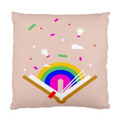 Books Rainboe Lamp Star Pink Standard Cushion Case (two Sides) by Mariart