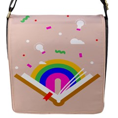 Books Rainboe Lamp Star Pink Flap Messenger Bag (s) by Mariart