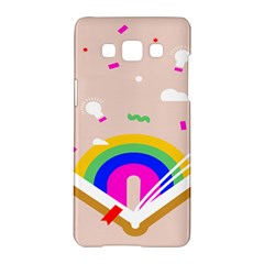 Books Rainboe Lamp Star Pink Samsung Galaxy A5 Hardshell Case  by Mariart