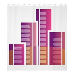 Building Shower Curtain 66  X 72  (large)  by Mariart