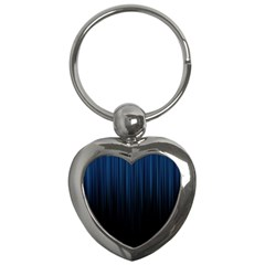 Black Blue Line Vertical Space Sky Key Chains (heart)  by Mariart