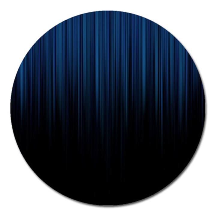 Black Blue Line Vertical Space Sky Magnet 5  (Round)