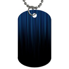 Black Blue Line Vertical Space Sky Dog Tag (two Sides) by Mariart