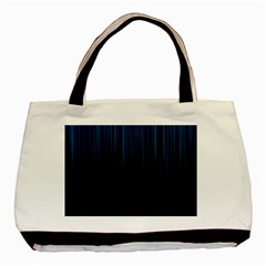 Black Blue Line Vertical Space Sky Basic Tote Bag by Mariart