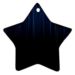 Black Blue Line Vertical Space Sky Star Ornament (two Sides) by Mariart