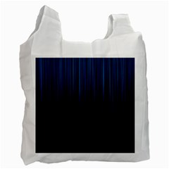 Black Blue Line Vertical Space Sky Recycle Bag (two Side)  by Mariart