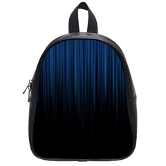 Black Blue Line Vertical Space Sky School Bags (small)  by Mariart