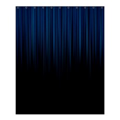 Black Blue Line Vertical Space Sky Shower Curtain 60  X 72  (medium)  by Mariart