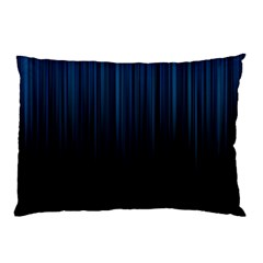 Black Blue Line Vertical Space Sky Pillow Case (two Sides) by Mariart