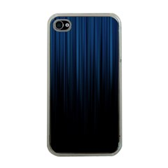Black Blue Line Vertical Space Sky Apple Iphone 4 Case (clear) by Mariart