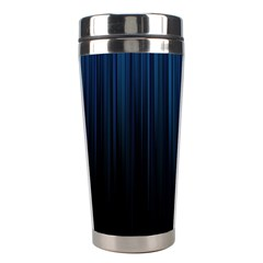 Black Blue Line Vertical Space Sky Stainless Steel Travel Tumblers by Mariart