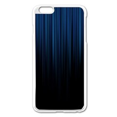Black Blue Line Vertical Space Sky Apple Iphone 6 Plus/6s Plus Enamel White Case by Mariart