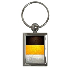 Wooden Board Yellow White Black Key Chains (rectangle)  by Mariart