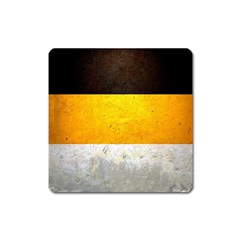 Wooden Board Yellow White Black Square Magnet by Mariart