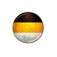 Wooden Board Yellow White Black Hat Clip Ball Marker by Mariart