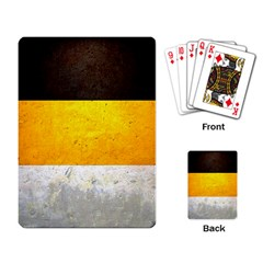 Wooden Board Yellow White Black Playing Card by Mariart