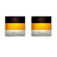 Wooden Board Yellow White Black Cufflinks (square) by Mariart
