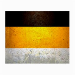 Wooden Board Yellow White Black Small Glasses Cloth (2 Side) by Mariart