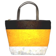 Wooden Board Yellow White Black Bucket Bags by Mariart