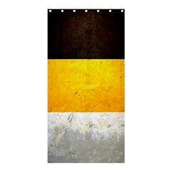 Wooden Board Yellow White Black Shower Curtain 36  X 72  (stall)  by Mariart