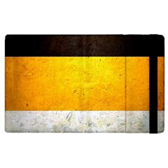 Wooden Board Yellow White Black Apple Ipad 2 Flip Case by Mariart