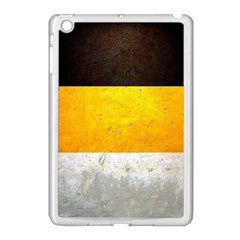 Wooden Board Yellow White Black Apple Ipad Mini Case (white) by Mariart