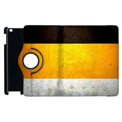Wooden Board Yellow White Black Apple Ipad 3/4 Flip 360 Case by Mariart